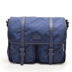 Authentic NEW GUCCI nylon messenger bag